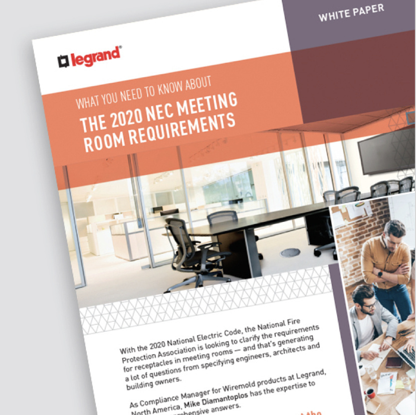 Page of 2020 NEC meeting room requirements resource