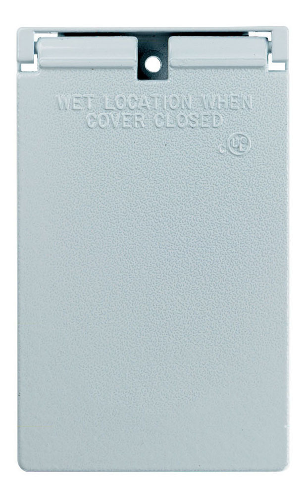 Cast Weatherproof Cover Decorator or GFCI Vertical, White