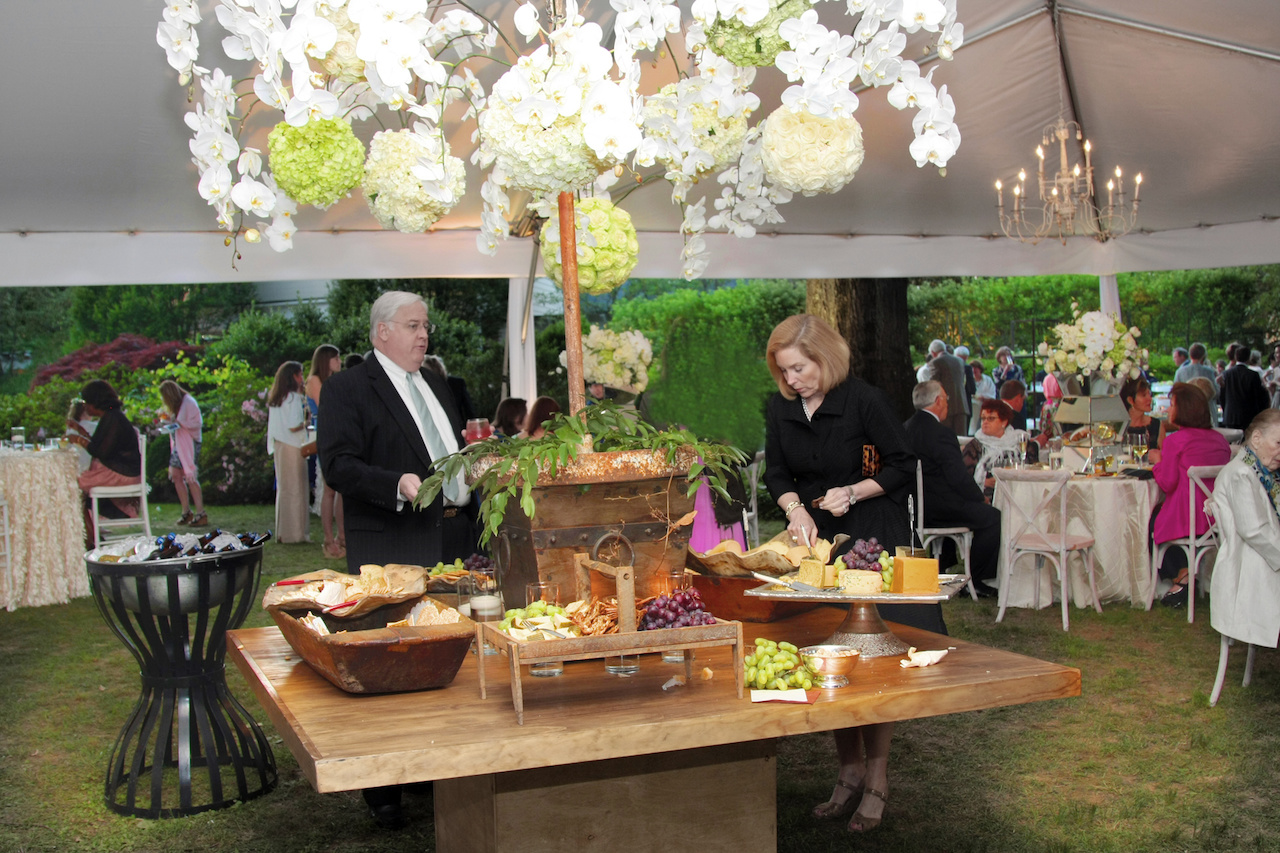 After the ceremony, guests made their way into the reception tent where they were were treated to an amazing spread.