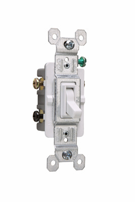 NAFTA-Compliant TradeMaster Grounding Toggle Switch, White, 663WG