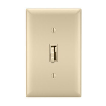 Toggle Slide Dimmer Incandescent, Single Pole / 3-Way 1100W, Ivory