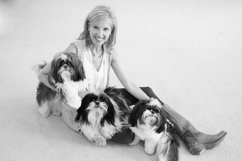 Amy and her precious pooches.