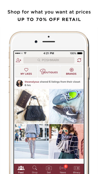 Poshmark allows you to wear designer brands at a fraction of the cost.