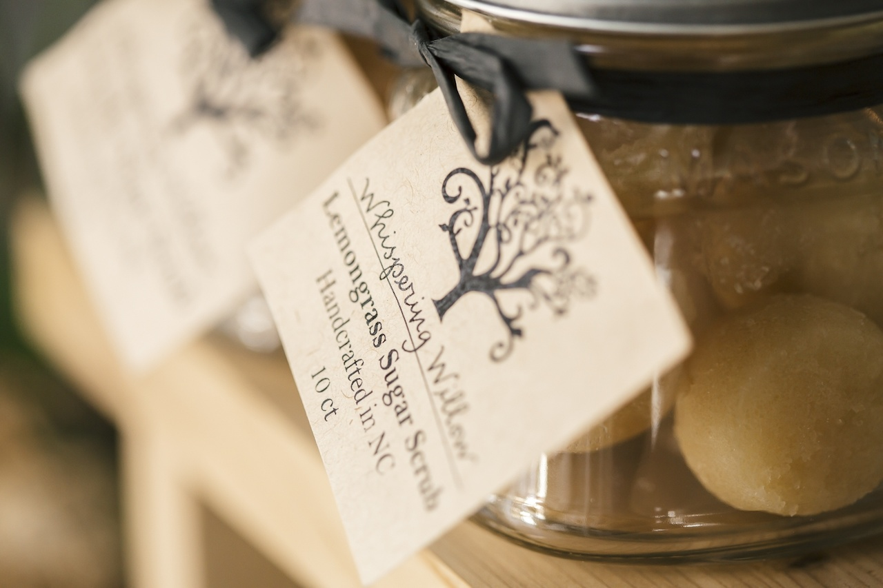 Locally made items can also be found in the store, such as this lemongrass sugar scrub.