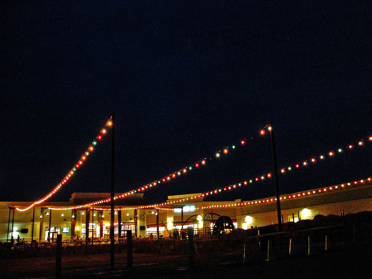 A view of the sprawling Coyote complex from the movie parking lot offers a view of the canteen, picnic area and kids' zone.