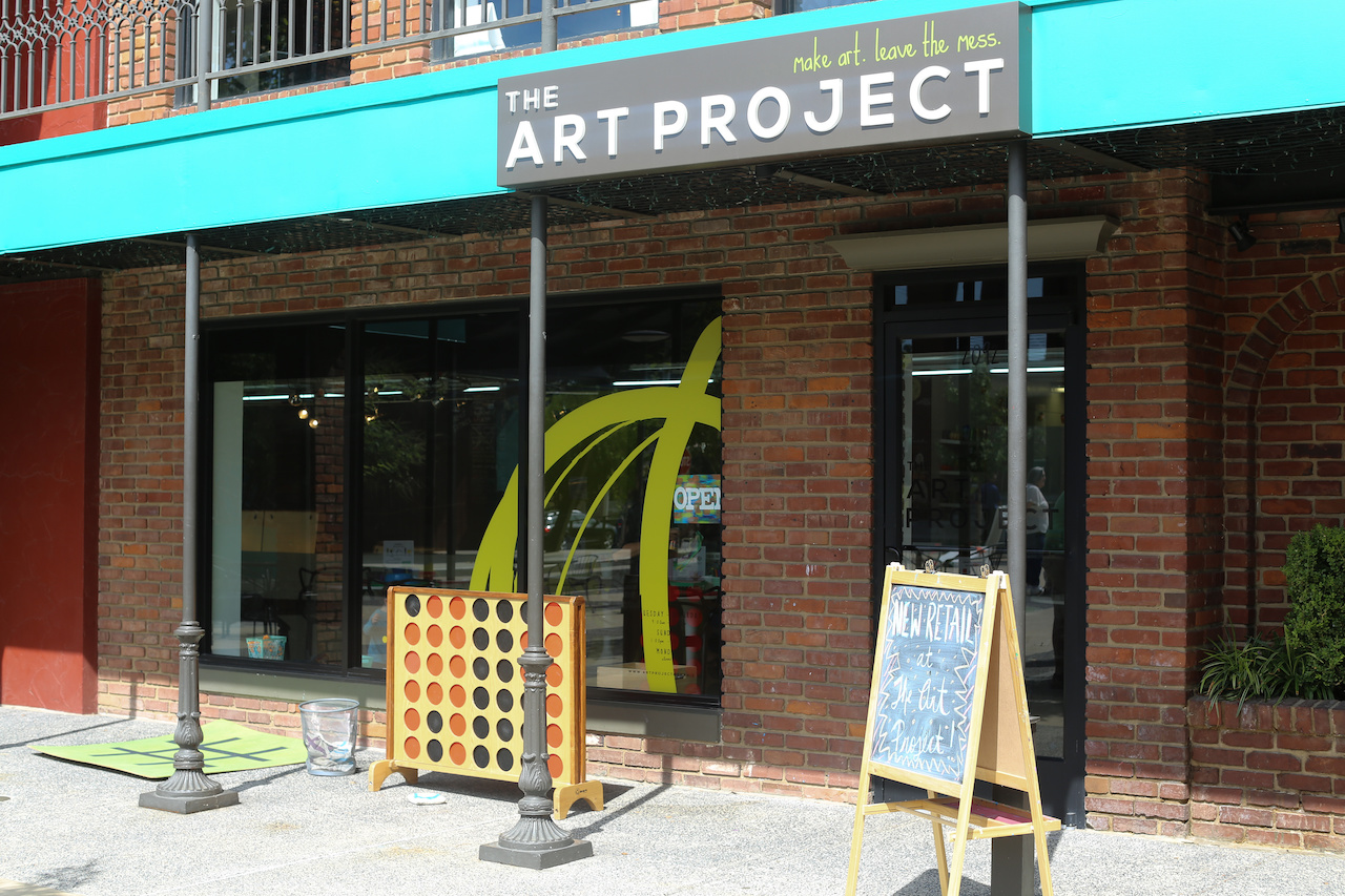 The Art Project is located in the courtyard at Overton Square.