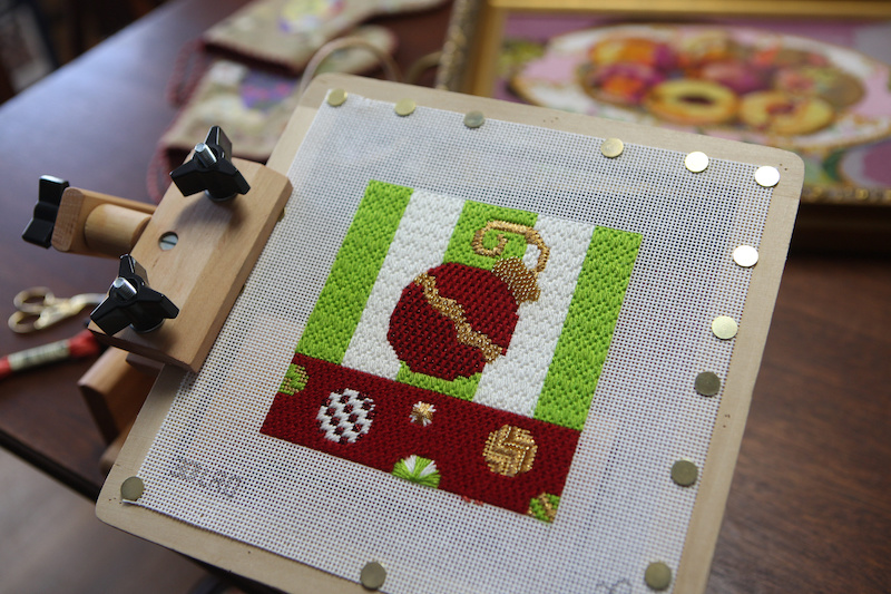 Changing up the colors of thread used in a piece allows for individual artistic expression in each creation, and is much of the beauty of needlework — no two pieces are ever exactly the same, even if they are stitched from the same canvas.