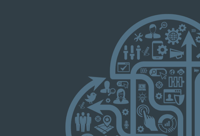 Internet of things graphic in teal blue