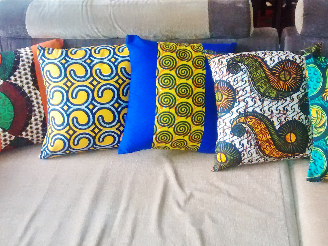 Throw pillows are an easy way to perk up a room and Mbabzi has enough variety to please anyone's taste and color scheme.