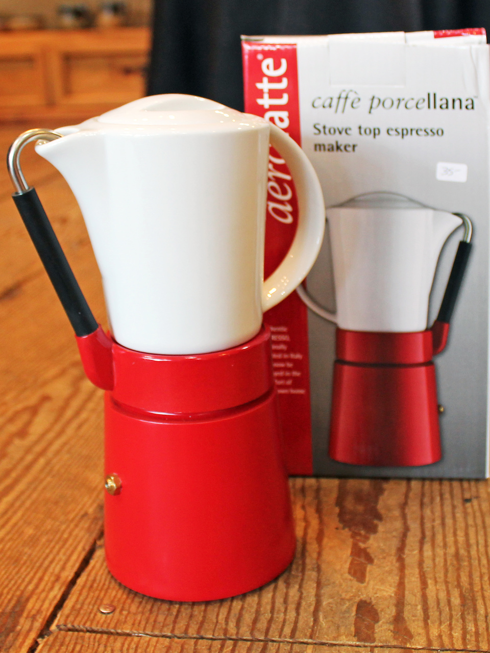Caffe Porcellana stove top espresso maker, $35, at The Cook Store