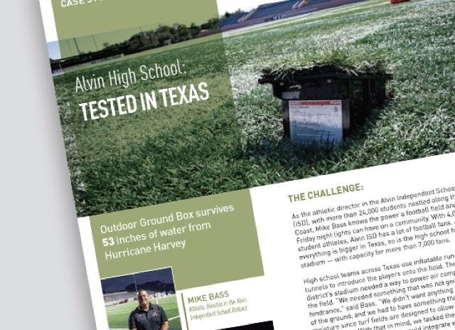 Alvin texas Case Study - outdoor ground box