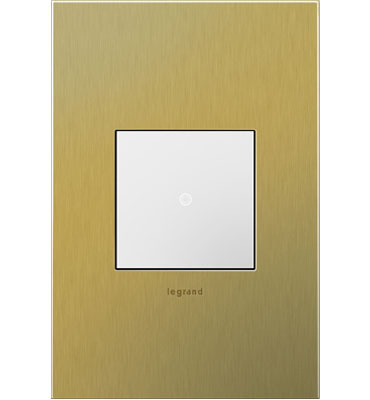 adorne 1-Gang Brushed Brass Wall Plate