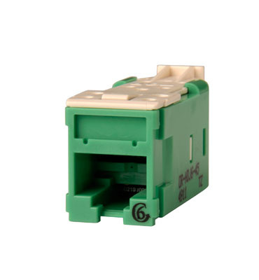 Clarity Cat6 High Density Jack,T568A/B, green, OR-HDJ6-45