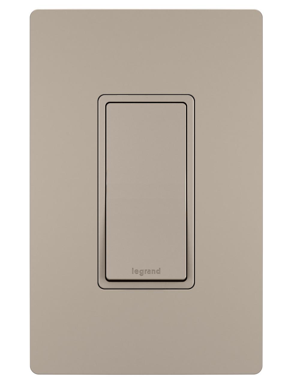 AET CPCINTWH Polished Chrome Classical Intermediate White Insert Plastic Rocker Switch-10 Amp Single 1 Gang Light Switch
