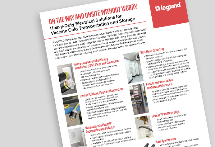 Image of Heavy-Duty Electrical Solutions for Vaccine Cold Transportation and Storage Sell Sheet