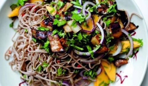 Eggplant & Mango Soba Noodles
