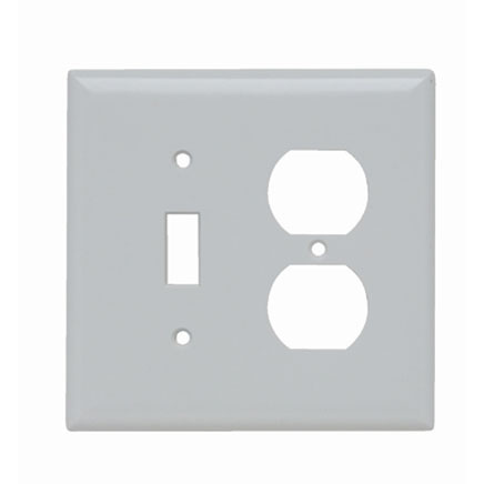 combination wall plate in white