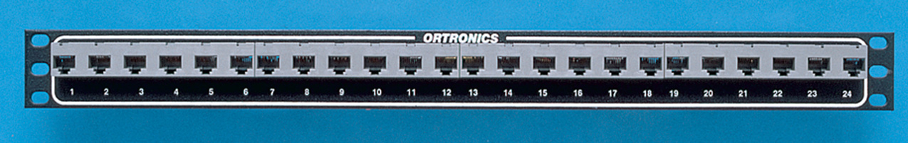 Mod 8/ Telco Panel, high density, 24 ports / T568B / M50, OR-808004333