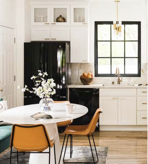 Retro updated white kitchen