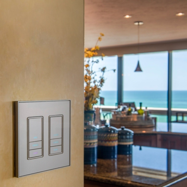 grey light switch in kitchen