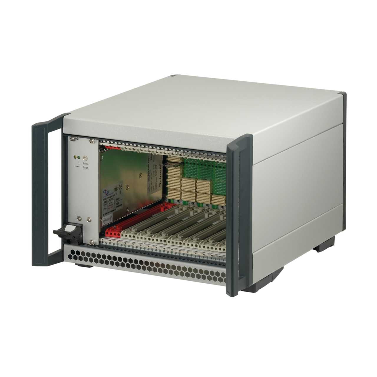 Image for CompactPCI Serial 4 U, 9 slot, 44 HP, without Rear I/O from nVent SCHROFF | Europe, Middle East, Africa and India