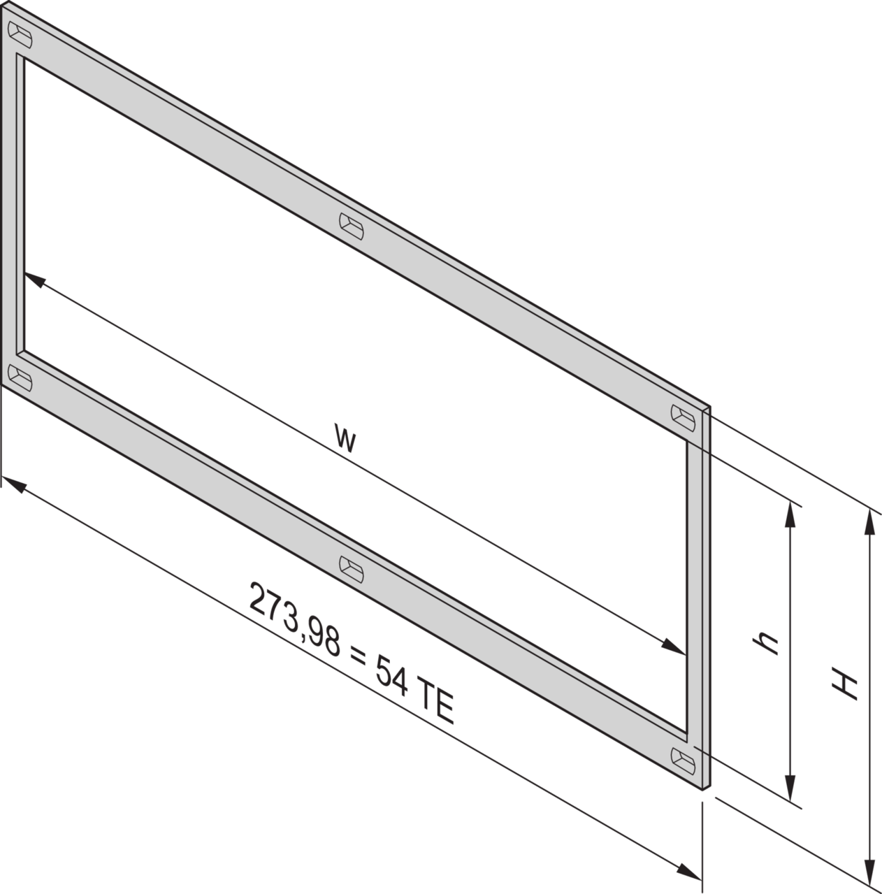Image for Front frame, unshielded from Schroff - Asia Pacific