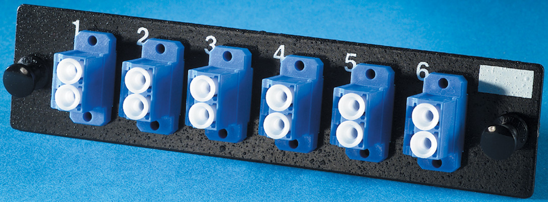 6-LC (12 fibers) single mode adapters with ceramic alignment sleeves, OR-OFP-LCD12AC