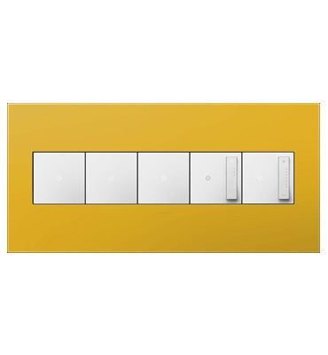 adorne 5-Gang Honey Wall Plate