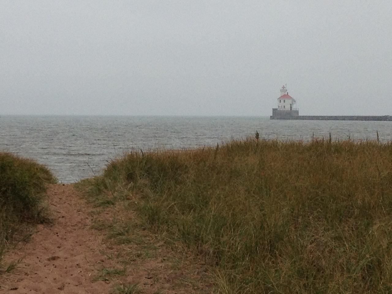 Beach access on Wisconsin Point Peninsula