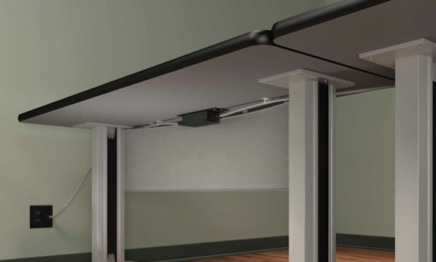 modular power on underside of office table
