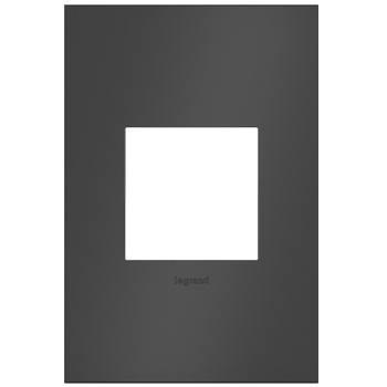 adorne 1-Gang Satin Black Wall Plate