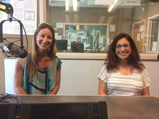 Dr. Michelle Barbieri and Ms. Angela Amlin, Pohaku Chronicles podcast hosts (2017).