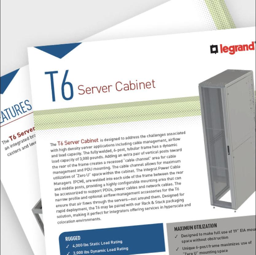 T6 Cabinet Data Sheet