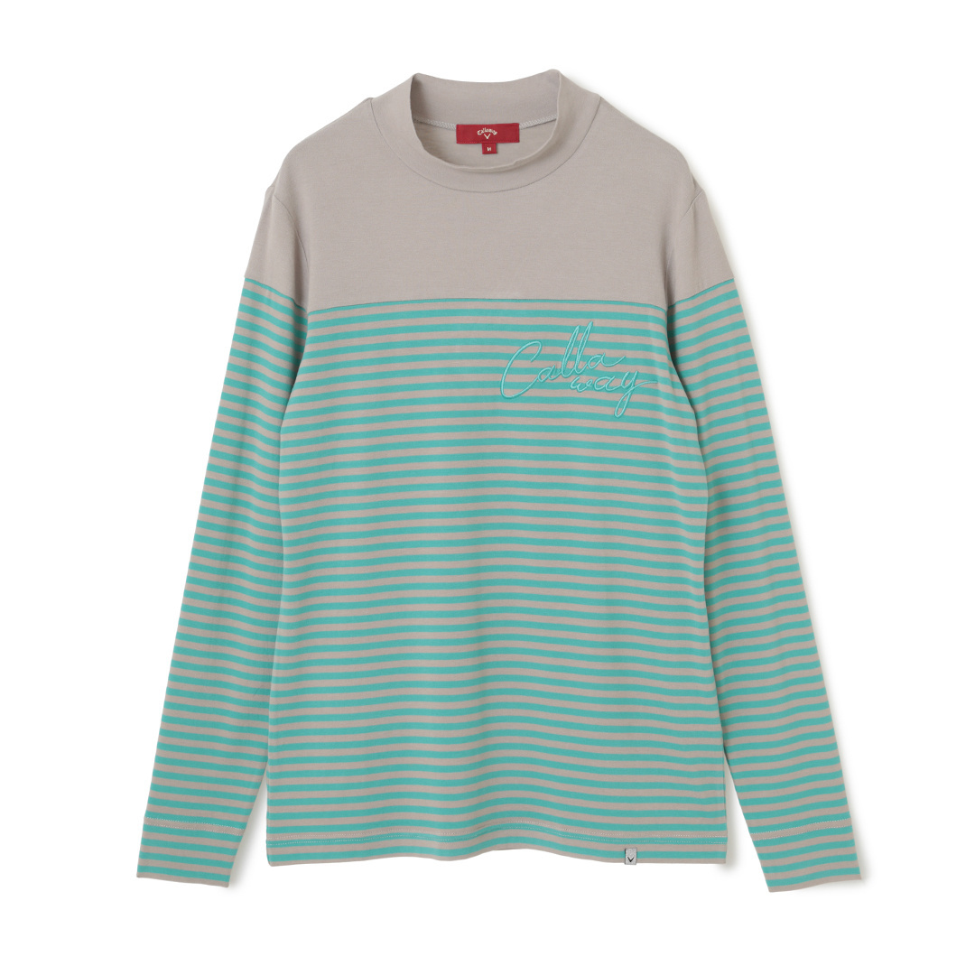 CALLAWAY RED LABEL 切り替えボーダーモックネックシャツ (WOMENS)