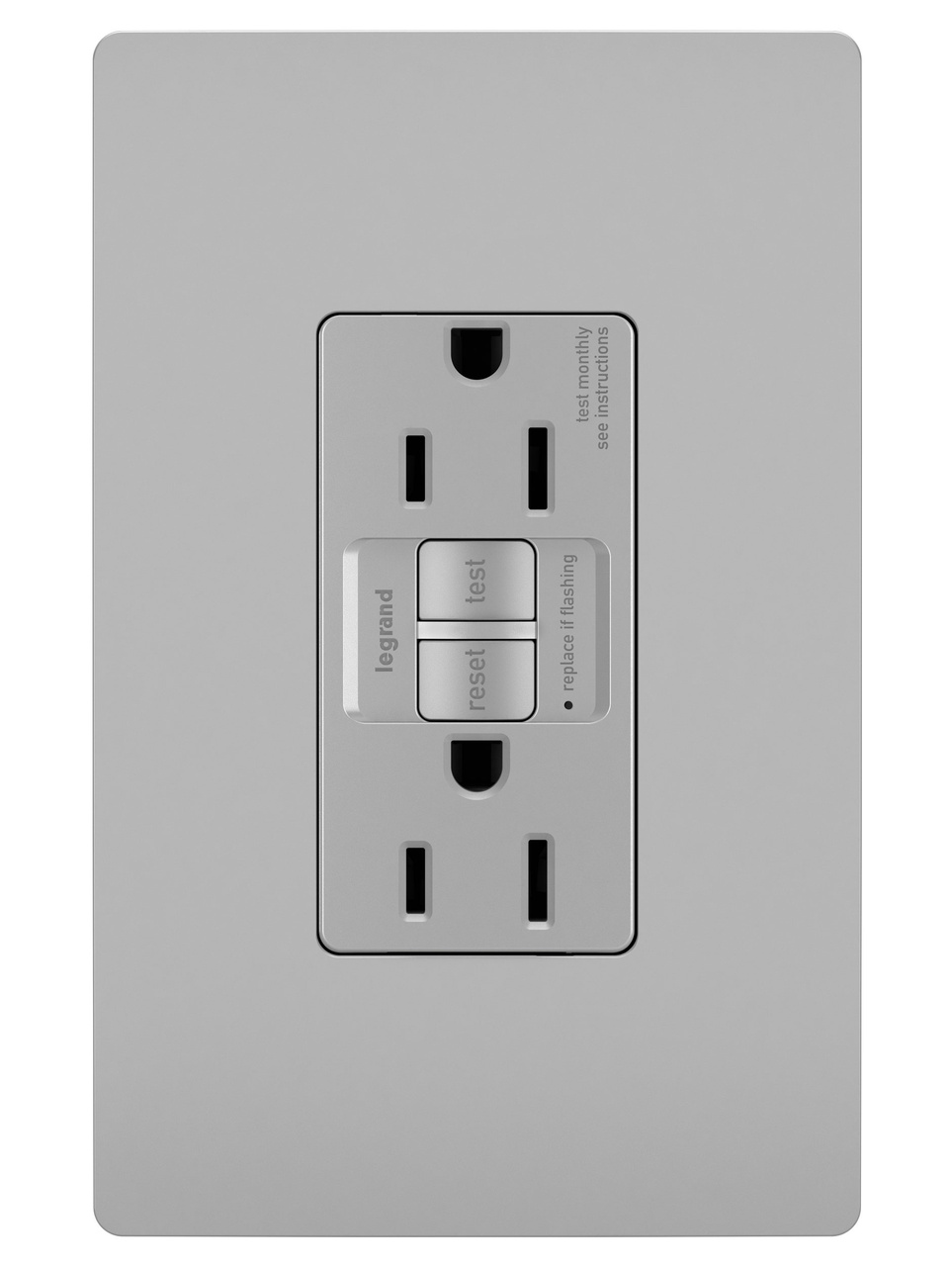 Spec-Grade 15A Self-Test Duplex GFCI, Gray