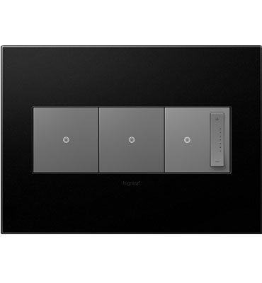 adorne 3-Gang Graphite Wall Plate