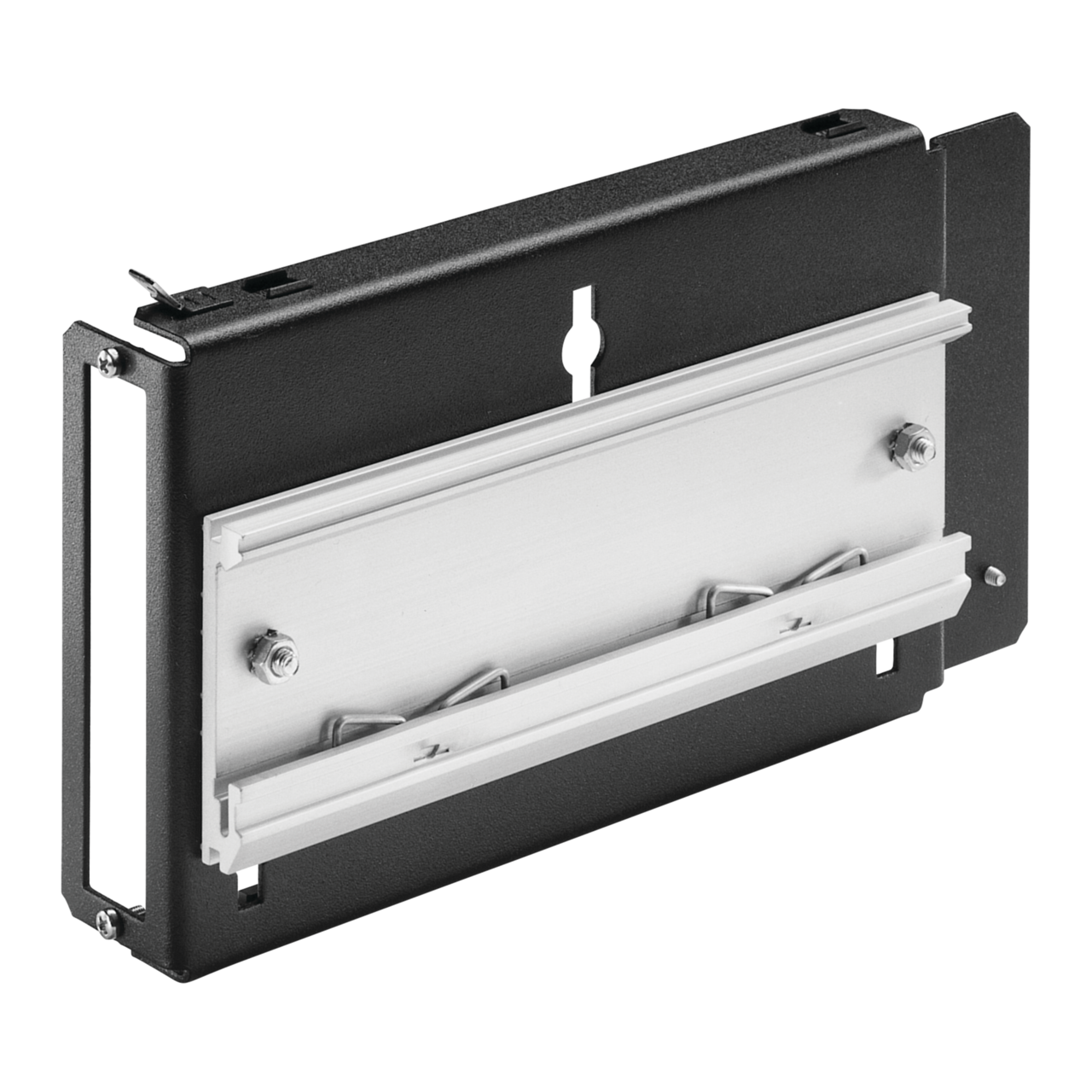 Example: horizontal rail adaptor with lip for 19 inch PSU