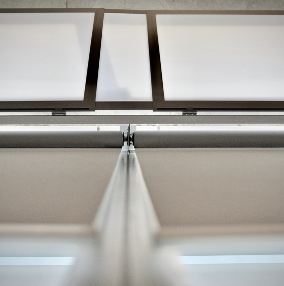 Close up of Motorized Roller Shade product