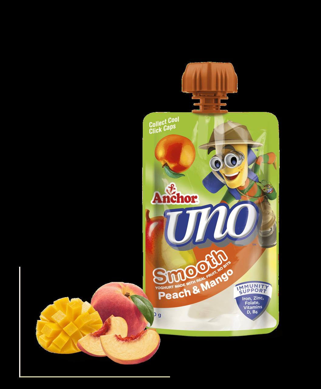 Anchor Uno Peach Mango Yoghurt Pouch 100g