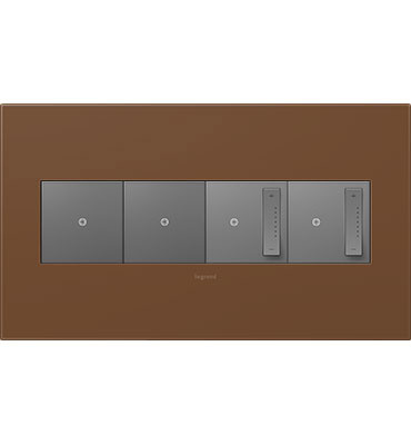 adorne 4-Gang Cappuccino Wall Plate