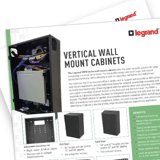 Data sheet for vertical wall mount cabinets from legrand