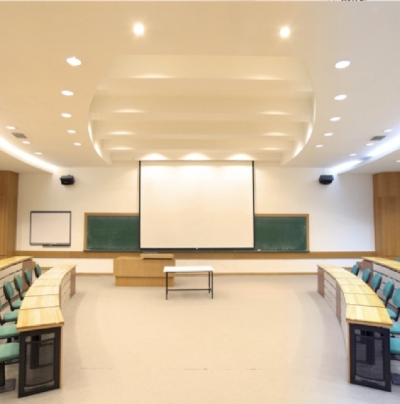 Lighting solutions in a college classroom
