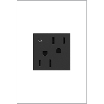 Dual Controlled Outlet, 15A, Graphite