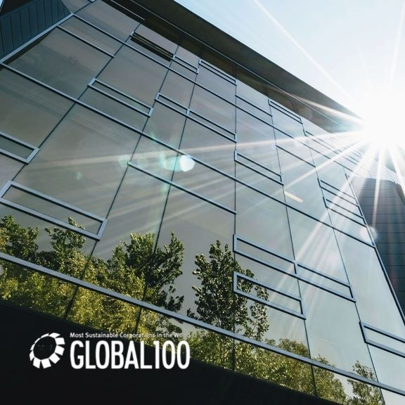 Sustainable headquarters with sunlight