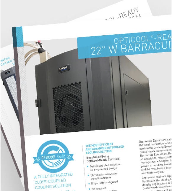 "Data Sheet: 22"" W Barracuda Equipment Rack"