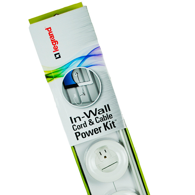 Wall Mount Flat Screen Tv Cable Power Kit Legrand