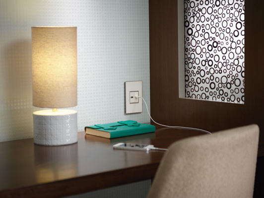 adorne USB Outlets at desk