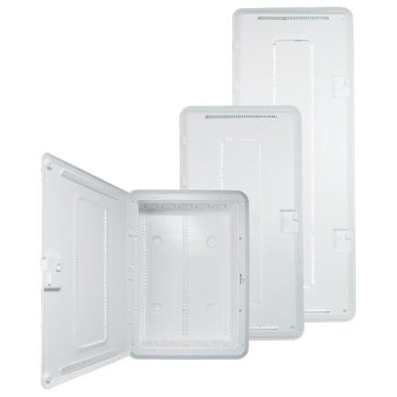 White plastic enclosures