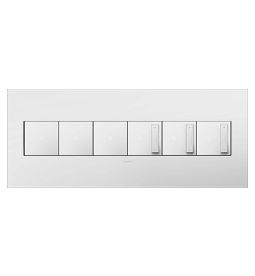 adorne 6-Gang White Wall Plate