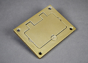 Powder-Coated Alum Rectangular Cover Plate-Brass - 828GFITCAL-BS